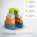 Infographic Template Collection -  Infographic Template with 3D Pie Charts