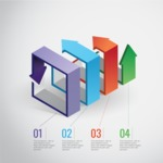 Infographic Template Collection - Vector Infographic Template with 3D Arrows