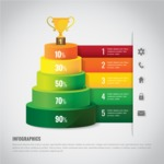Infographic Template Collection - Vector Infographic Template in 3D Style with a Cup