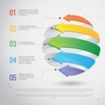 Infographic Template Collection - Infographic Template with Abstract Colorful Arrows