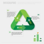 Infographic Template Collection - Vector Recycle Sign Infographic Template