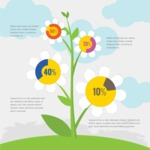 Infographic Template Collection - Outdoor Flower Vector Infographic Template