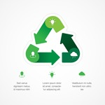 Infographic Template Collection - Minimal Ecology Infographic Template Design