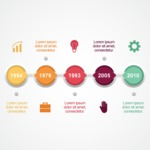 Infographic Template Collection - Year Timeline Vector Infographic Template Design