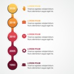 Infographic Template Collection - Growth Over Years Infgraphic Template Vector Design