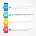Infographic Template Collection - Colorful Pipe Timeline Infographic Template Vector Design