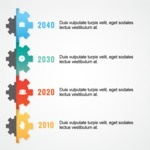Infographic Template Collection - Cogwheels Timeline Vector Infographic Template
