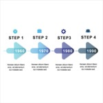 Infographic Template Collection - Flat Arrows Vector Timeline Infographic Template Design