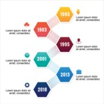 Infographic Template Collection - Timeline Infographic Template with Vector Elements