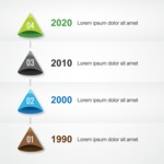 Infographic Template Collection - Four Company Milestones Vector Infographic Template Design