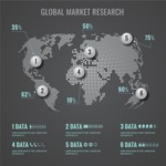 Infographic Template Collection - Technology World Map Infographic Template