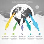 Infographic Template Collection - Globe Business Infographic Template