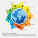 Infographic Template Collection - Earth Infographic Design Template with Progress