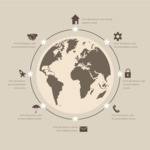 Infographic Template Collection - Simple Global World Infographic Template with Data