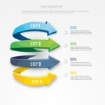 Infographic Template Collection - Vector Infographic Template with Four Data Placeholders