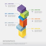 Infographic Templates Collection - Vector, Photoshop, PowerPoint, Google Slides - Vector Infographic Template with 3D Elements
