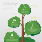 Infographic Templates Collection - Vector, Photoshop, PowerPoint, Google Slides - Flat Tree Vector Ecology Infographic Template