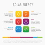 Infographic Templates Collection - Vector, Photoshop, PowerPoint, Google Slides - Solar Energy Vector Infographic Template