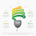 Infographic Templates Collection - Vector, Photoshop, PowerPoint, Google Slides - Eco Energy Infographic Template Design