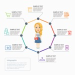 Infographic Templates Collection - Vector, Photoshop, PowerPoint, Google Slides - Sales Infographic Template