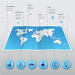 Infographic Templates Collection - Vector, Photoshop, PowerPoint, Google Slides - Paper World Map Infographic Template