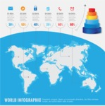 Infographic Templates Collection - Vector, Photoshop, PowerPoint, Google Slides - Geography Infographic Template with World Map