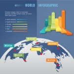 Infographic Templates Collection - Vector, Photoshop, PowerPoint, Google Slides - Globe Infographic Template