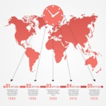 Infographic Templates Collection - Vector, Photoshop, PowerPoint, Google Slides - Time Zone Worldwide Map Infographic Template