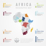 Infographic Templates Collection - Vector, Photoshop, PowerPoint, Google Slides - Africa Map Infographic Template