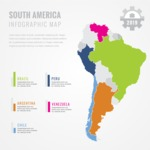 Infographic Templates Collection - Vector, Photoshop, PowerPoint, Google Slides - South America Infographic Template