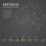 Infographic Templates Collection - Vector, Photoshop, PowerPoint, Google Slides - Australia Map Infographic Template with States