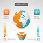 Infographic Templates Collection - Vector, Photoshop, PowerPoint, Google Slides - Corporate Globe Analysis Infographic Template