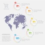 Infographic Templates Collection - Vector, Photoshop, PowerPoint, Google Slides - Business Infographic Template with World Map