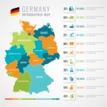 Infographic Templates Collection - Vector, Photoshop, PowerPoint, Google Slides - Germany Map Infographic Template
