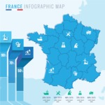 Infographic Templates Collection - Vector, Photoshop, PowerPoint, Google Slides - France Map Infographic Template