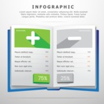 Infographic Templates Collection - Vector, Photoshop, PowerPoint, Google Slides - Pros and Cons Comparison Infographic Template with a Book
