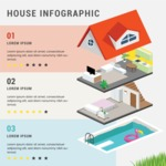 Infographic Templates Collection - Vector, Photoshop, PowerPoint, Google Slides - Real Estate Infographic Template with a House