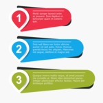 Infographic Templates Collection - Vector, Photoshop, PowerPoint, Google Slides - Colorful Infographic Template with 3 Steps