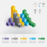 Infographic Templates Collection - Vector, Photoshop, PowerPoint, Google Slides - Vector Infographic Template with Colorful 3D Cubes