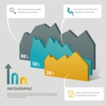 Infographic Templates Collection - Vector, Photoshop, PowerPoint, Google Slides - Infographic Template with 3D Statistics
