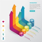 Infographic Templates Collection - Vector, Photoshop, PowerPoint, Google Slides - Modern 3D Infographic Template with Percentage Chart