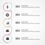 Infographic Templates Collection - Vector, Photoshop, PowerPoint, Google Slides - Growth Over Years Vector Infographic Template Design