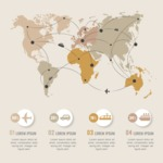 Infographic Templates Collection - Vector, Photoshop, PowerPoint, Google Slides - Travel World Map Infographic Template