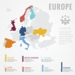 Infographic Templates Collection - Vector, Photoshop, PowerPoint, Google Slides - Europe Map Infographic Template