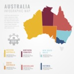 Infographic Templates Collection - Vector, Photoshop, PowerPoint, Google Slides - Australia Map Infographic Template