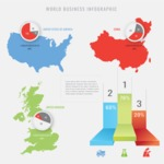 Infographic Templates Collection - Vector, Photoshop, PowerPoint, Google Slides - Countries Comparison Infographic Template