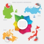 Infographic Templates Collection - Vector, Photoshop, PowerPoint, Google Slides - Four Country Comparison Infographic Template