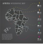 Infographic Templates Collection - Vector, Photoshop, PowerPoint, Google Slides - Africa Map Infographic Template with Countries