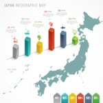 Infographic Templates Collection - Vector, Photoshop, PowerPoint, Google Slides - Japan Infographic Template with Map