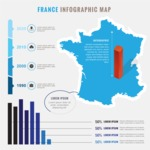Infographic Templates Collection - Vector, Photoshop, PowerPoint, Google Slides - France Economy Infographic Template Design